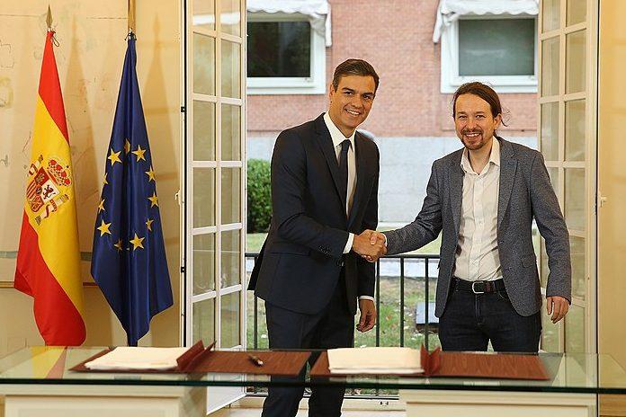 Pedro Sánches y Pablo Iglesias