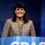 Nikki haley, representante de EE.UU en la ONU y exgobernadora de Carolina del Sur