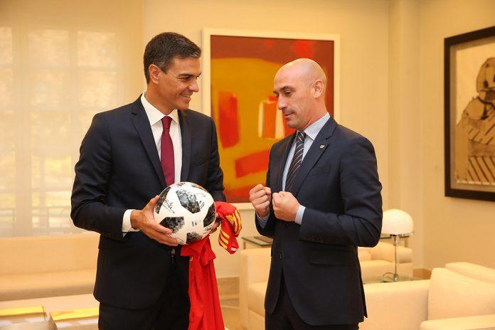 Luis Rubiales con Pedro Sánchez.