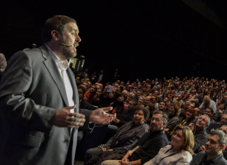Oriol Junqueras en una acto de Esquerra Republicana.