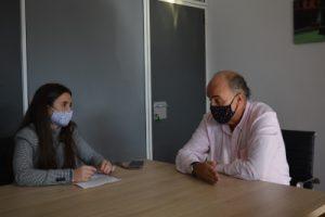 Entrevista en su despacho como viceconsejero de Salud Pública. Foto de: Eva Mallo