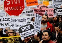 Manifestación antidesahucios. Fotografía: José Luis Roca.