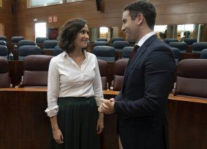 Isabel Díaz Ayuso y Teodoro García Egea en la Asamblea de Madrid